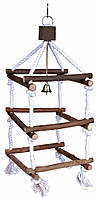 Лестница Trixie Tower with Rope для птиц деревянная на канате, 51 см