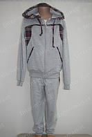 """Красивый детский трикотажный спортивный костюм """"Adidas"""" для мальчика серый"""