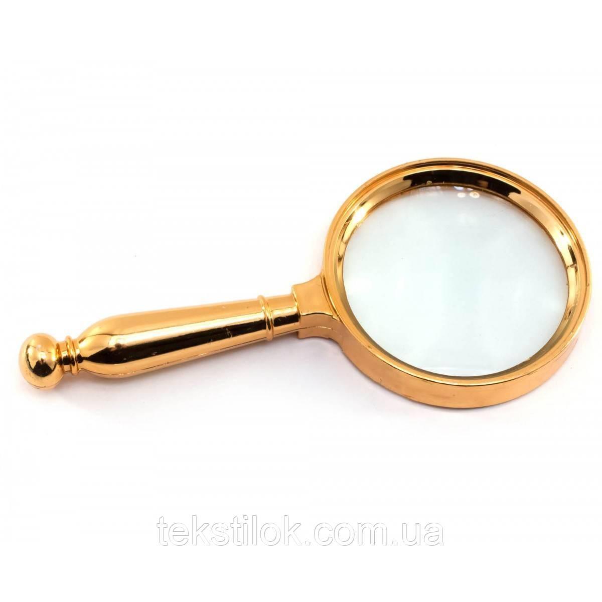 Лупа металева, діаметр 8,5 см, довжина 17,5 см