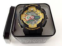 Часы мужские G-Shock - черно-желтые в металлическом тубусе, водозащита 3Bar