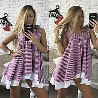 Женская пышная стильная блуза в полоску,3 цвета