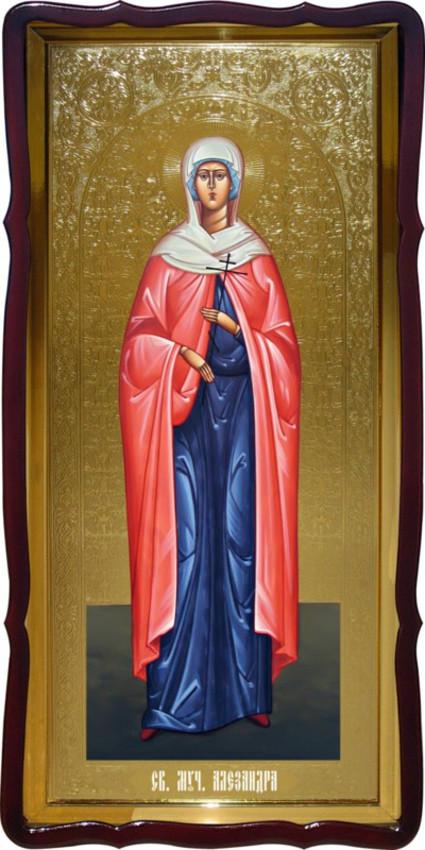 Ікона святої Олександри фон золото