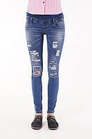 Рваные джинсы для беременных SKINNY 2 В 1 (беременность и после) синие
