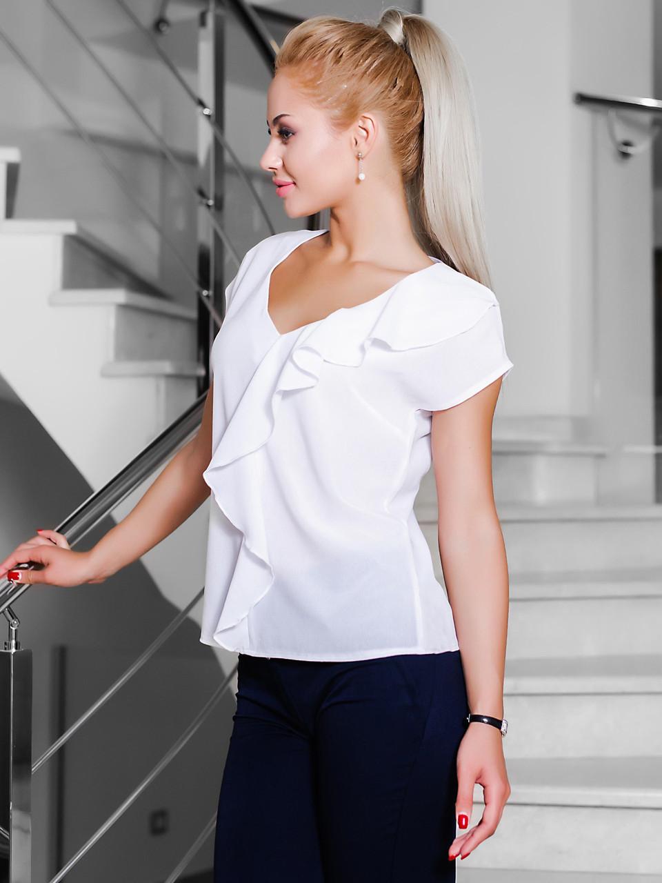 (M, L) Жіноча стильна біла блузка Elis