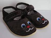 Текстильные детские тапочки с вышивкой