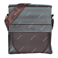 Коричневая сумка мужская стильная и качественная (54094н)