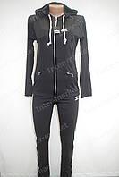 Спортивный костюм в стиле ADIDAS черный, фото 1