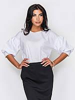 Жіноча бавовняна біла блузка Tiren