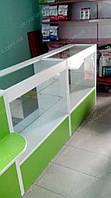Прилавок стеклянный с полками, фото 1