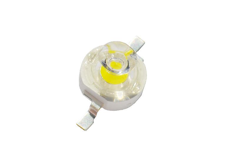 Светодиод 1 Вт с линзой белый (6000К) BIN1