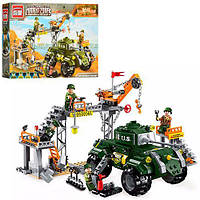 Детский конструктор BRICK / БРИК 1712 военная база, танк, фигурки, 396 деталей (аналог лего / lego )