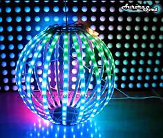 Светодиодная сфера/полусфера AS-3, 400мм, 20 лучей, 32пикс/луч