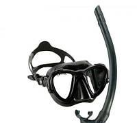 Комплект (маска и трубка) для фридайвинга и подводной охоты Cressi Occhio Plus + Трубка Corsica