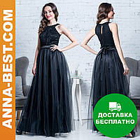 """Черное длинное платье вечернее """"Мидея"""""""
