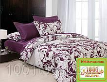 Евро двуспальное постельное бельё Viluta (Вилюта) ранфорс, 8624