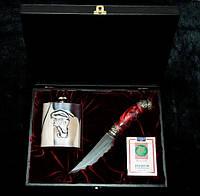 """Ножевой набор """"Joker"""" - комплект из ножа, карт, фляги в кейсе"""