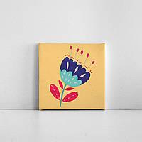 Детская картина на холсте Цветок 20х20 см