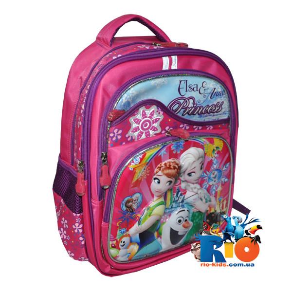 Школьный рюкзакс ортопедической спинкой, для девочки (мин. заказ - 1 ед)