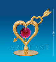 "Фигурка ""Сердце со стрелой"" 5x3x6 см., с цвет. крист. Crystal Temptations, США"
