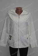 Спортивная женская куртка летняя белая