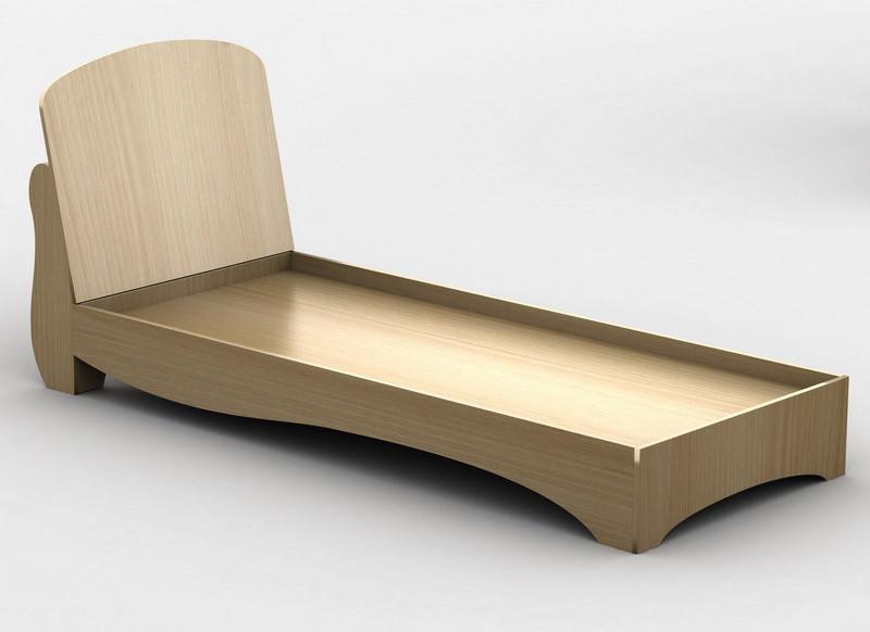 Ліжко односпальне в спальню/дитячу КР-4 Тіса меблі