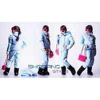 Детский зимний костюм-трансформер с натуральной опушкой для девочки,S-Style