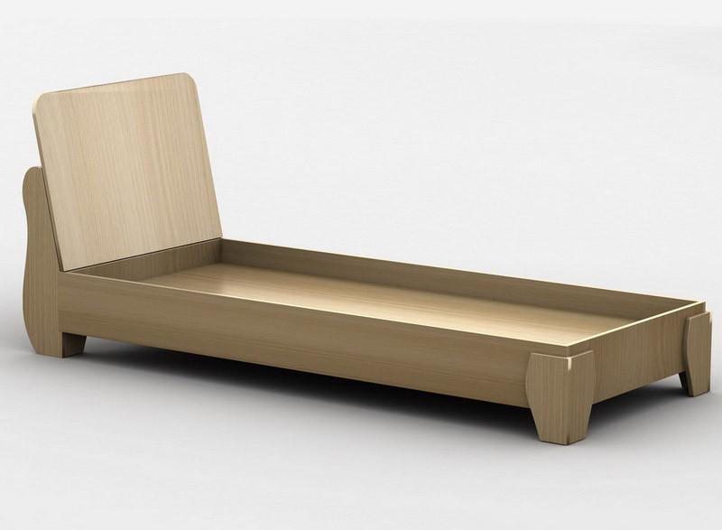 Ліжко односпальні в спальню/дитячу КР-5 Тіса меблі