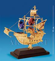 """Фигурка """"Парусник на подставке"""" 9x3,5x10 см., с цвет. крист. Crystal Temptations, США"""