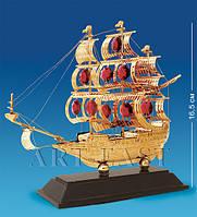 """Фигурка """"Парусник"""" на подставке 17x6x16,5 см., с цвет. крист. Crystal Temptations, США"""