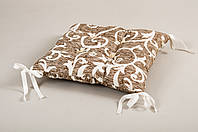 Подушка на стул Lotus 45*45 - Jaco с завязками кофе
