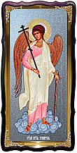 Ікона Ангела Хоронителя для храму фон срібло