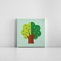 Детская картина на холсте Дерево 20х20 см