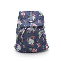 Рюкзак женский джинсовый цветы