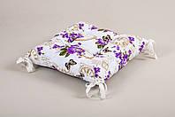 Подушка на стул Lotus 45*45 - Limoges с завязками лиловый