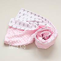 Конверт-плед на выписку для новорожденной девочки