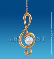 """Подвеска """"Скрипичный ключ"""" с цв.кр. (Юнион) AR-1026/ 2"""