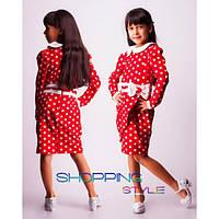 """Детское платье """"Запах - горошек"""" для девочек,S-Style"""