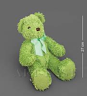 Медведь с бантиком - зеленый 40см CR-15