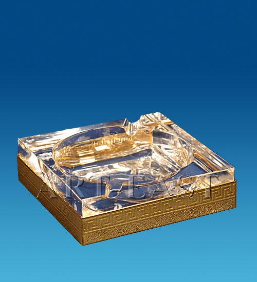 Пепельница 10,5x10,5x3 см., Crystal Temptations, США