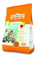 Сухой корм Клуб 4 Лапы для кастрированных котов и стерилизованных кошек, 0,3кг
