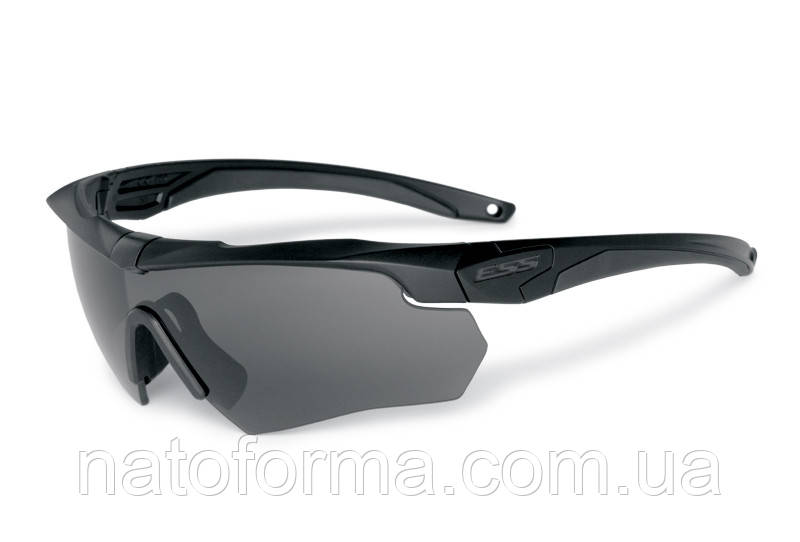 Очки тактическиеESS Crossbow Polarized 4LS (комплект), с поляризованной линзой, реплика, черный