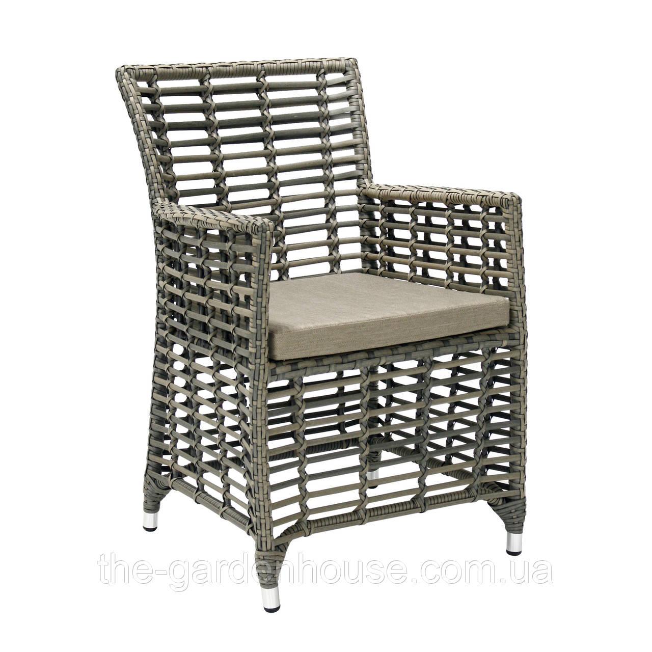Садовое кресло из искусственного ротанга Zenica серое