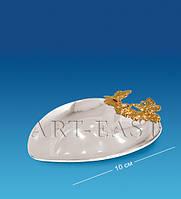 Блюдце-сердце с бабочками (Юнион) AR-1155