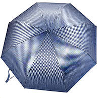 Женский симпатичный прочный зонтик полуавтомат art. 16031 синий/белый горошек (100216)