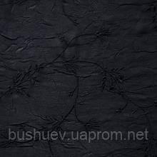 Ткань креш-шифон с вышивкой Чёрный