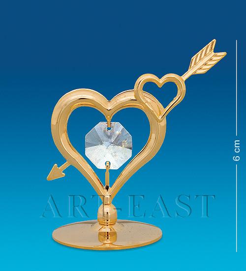 """Фигурка """"Сердце со стрелой"""" 5x3x6 см., Crystal Temptations, США"""