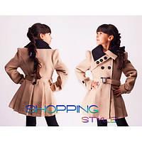 Пальто детское из кашемира для девочки,S-Style