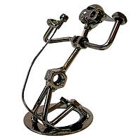 "Техно-арт статуэтка из металла ""Певец"" Темно-серый"