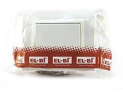 Выключатель одинарный EL-BI, ZENA Белый