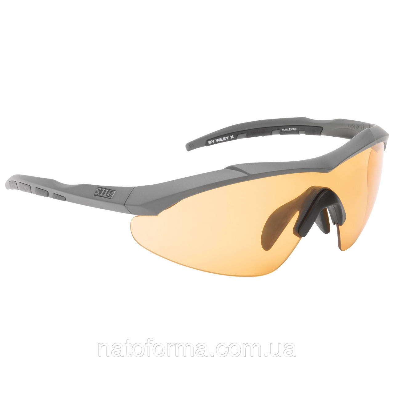 Очки тактические 5.11 Aileron Shield (комплект), реплика, черный